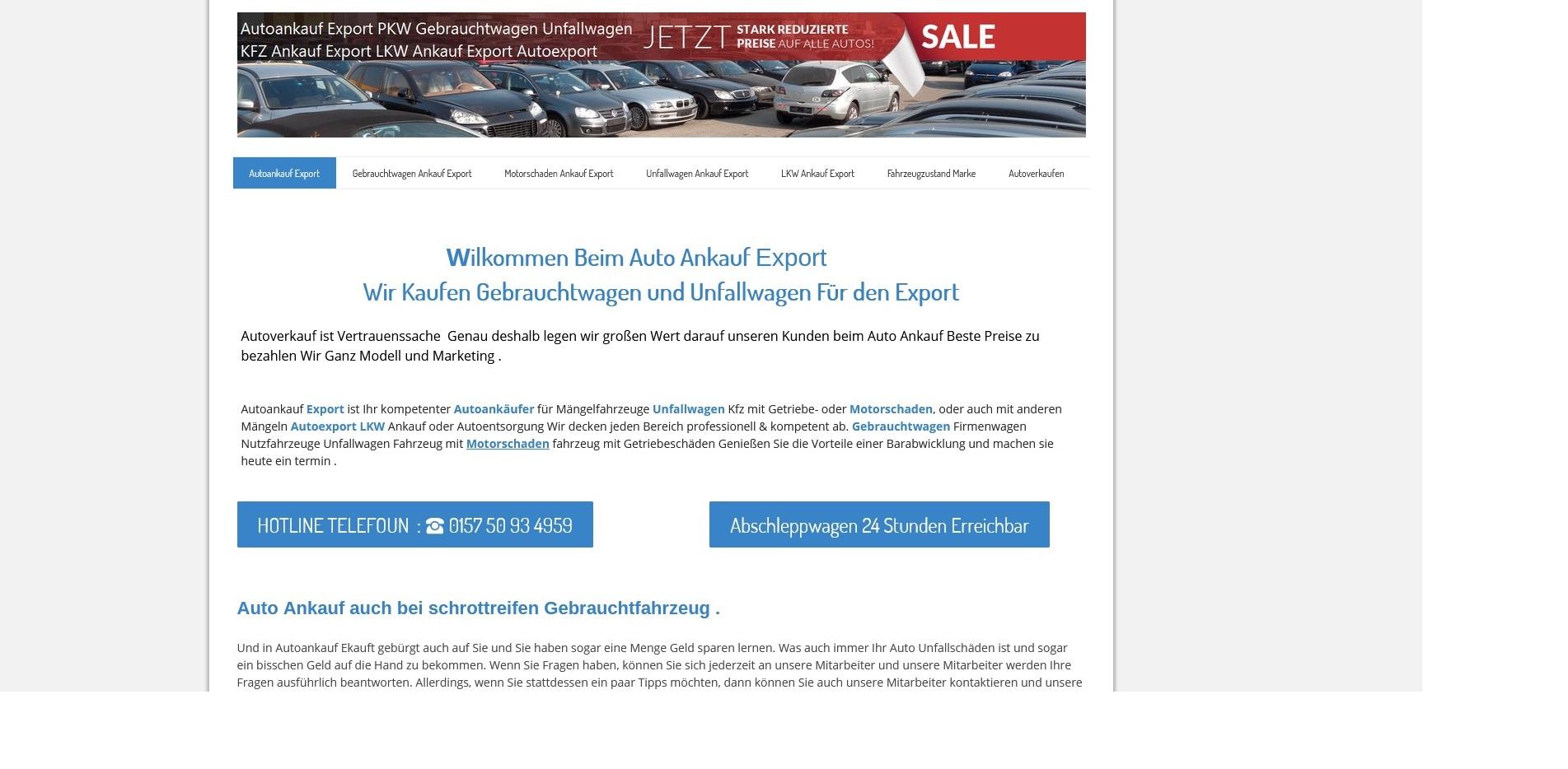 AutoAnkauf Bad Kissingen: Wir Kaufen Gebrauchtwagen und Unfallwagen Für den Export